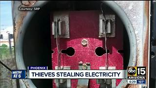 Thieves targeting electricity in power thefts