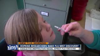Johns Hopkins thinks they can fix flu mist vaccine - Video