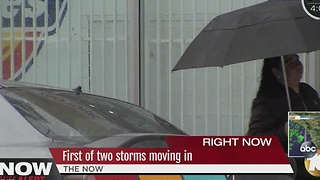 Breaking Weather Alert: First of two storms move in, Jeff Lasky reports from Point Loma - Video