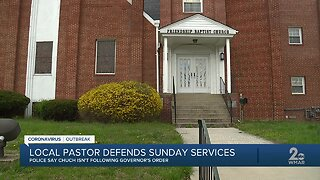 Police shut down church service during Sunday mass in Baltimore