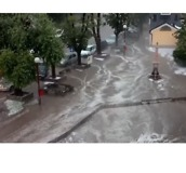 Torrential Rain and Hail Makes Serbian Streets Look Like Flowing Rivers - Video