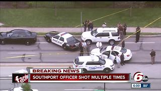 Southport police officer shot multiple times - Video