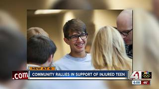 Community supports family of teen injured in car crash - Video