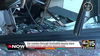 Car crashes through Scottsdale beauty store