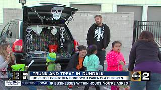 Local High School hosts 'Trunk or Treat' event for the community - Video
