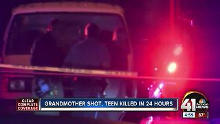 Seventy-seven-year-old grandmother, man bound for college shot in KCK