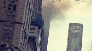 Fire Breaks Out at Trump Tower in New York - Video