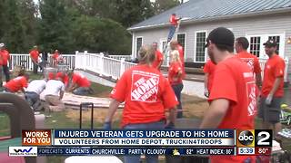 Home Depot, Truckin4Troops helps upgrade Army Veterans yard - Video