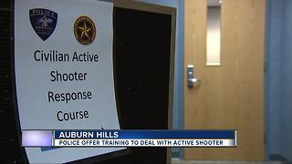 Police offer training session to deal with active shooter - Video
