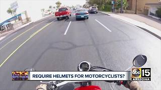 Debate continues over Arizona motorcycle helmet law