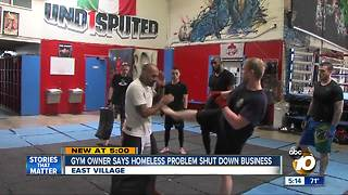 Gym owner says homeless crisis shut down his business