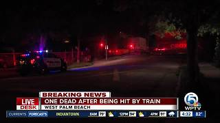 1 person fatally struck by train in West Palm Beach - Video