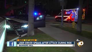 Uber driver speaks after attack during ride - Video