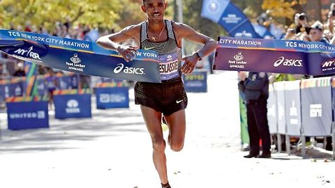 Eritrea's Ghimray Ghebreslassie Wins Men's New York City Marathon 2016