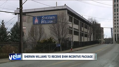 Cuyahoga County officials discuss a fourteen-million dollar Incentive grant to help build the new Sherwin Williams Cleveland headquarters