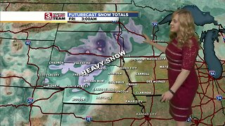 Intensifying winter storm sweeping across central plains