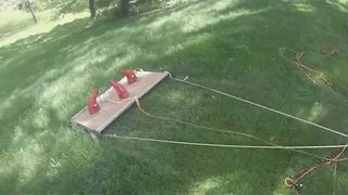 Man Creates Specialized Lawn Mower for His Tricky Yard - Video