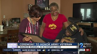 Ceremony held to honor local Army veteran