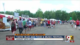 Taste: Blue Ash Food & Music Festival Talks on 9 On Your Side at Noon - Video