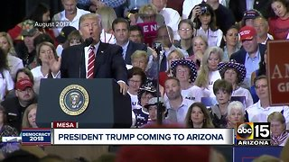 President Trump coming to Arizona on Friday