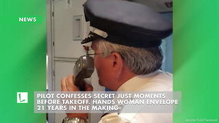 Pilot Confesses Secret Just Moments before Takeoff. Hands Woman Envelope 21 Years in the Making - Video