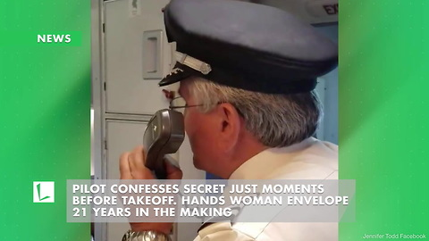 Pilot Confesses Secret Just Moments before Takeoff. Hands Woman Envelope 21 Years in the Making