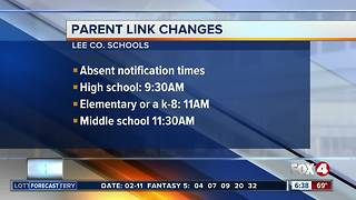 Student absence changes via Parent Link - Video