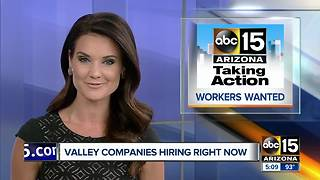 Several companies now hiring in the Valley - Video