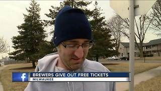 Brewers give out free tickets - Video