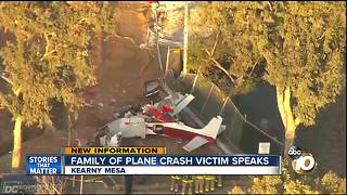 Family of plane crash victim speaks