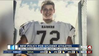 New policy for student athletes
