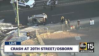 Serious crash at 20th Street and Osborn - Video