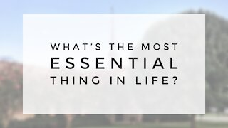 4.5.20 Sunday Sermon - WHAT'S THE MOST ESSENTIAL THING IN LIFE?