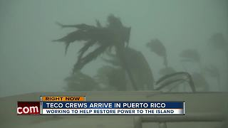 TECO workers head to Puerto Rico to help restore power months after Hurricane Maria - Video