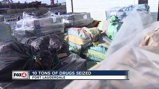 Coast Guard seized 10 tons of cocaine off FL coast - Video