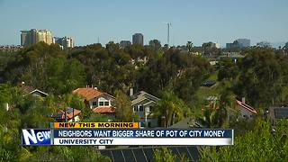 Neighbors split over pot of city money