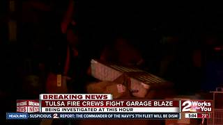 Firefighters battle garage fire at S. 43rd W. Ave. - Video
