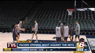 The Pacers prepare for opening night - Video