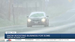 Snow boosting business for some in Baltimore County