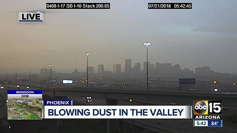 Blowing dust advisory is in effect early Saturday