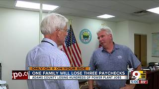 One Adams County family to lose three paychecks in power plant closures