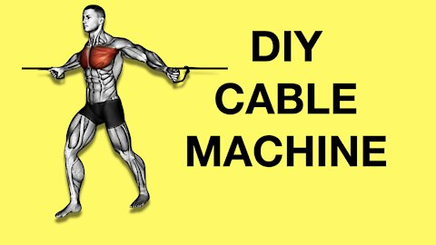 DIY home gym cable pulley machine (cable crossover, high pulley, low pulley system)