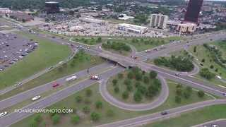 Drone Video Shows Collapsed Oklahoma City Bridge - Video