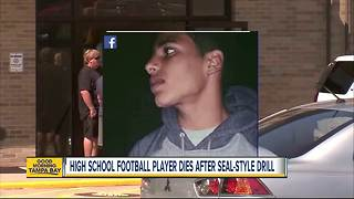 High school football player dies at practice doing drill made for Navy SEALs - Video