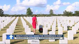 Sarasota National Cemetery experiencing wreath shortage for annual tradition - Video