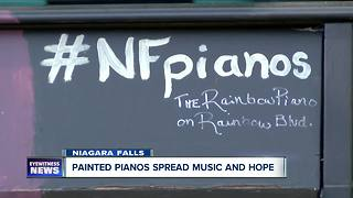 Painted street pianos spread positivity across Niagara Falls - Video