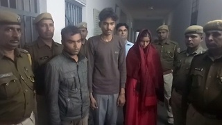 Woman arrested along with two lovers for killing husband in India - Video
