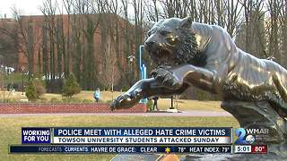Police meet with alleged hate crime victims
