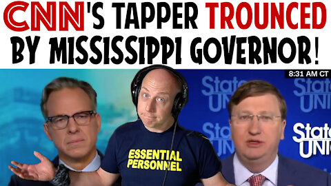 CNN's TAPPER TROUNCED BY MISSISSIPPI GOVERNOR!