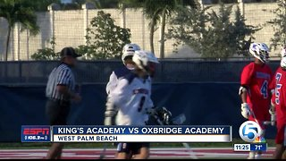 Oxbridge Academy defeats King's Academy lacrosse 3/29